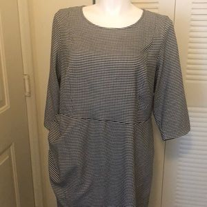 Eloquii Size 20w Houndstooth Print Dress